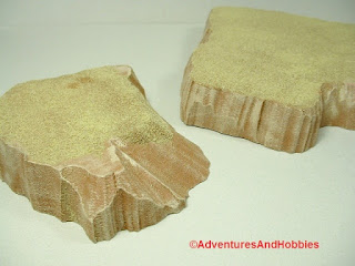 Desert terrain pieces for miniature war games - close up view 1.