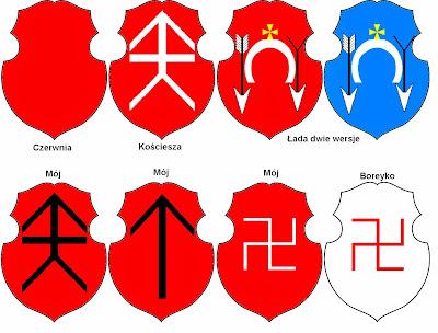 czerwnia, łada x2, boreyko, kościesza, heraldyka polska, podkowa, axis mundi