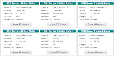 Cara Membuat Akun SSH di Createssh.com