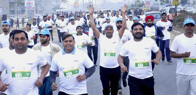 Half Marathon organized by The Shriram Millennium School, Greater Faridabad