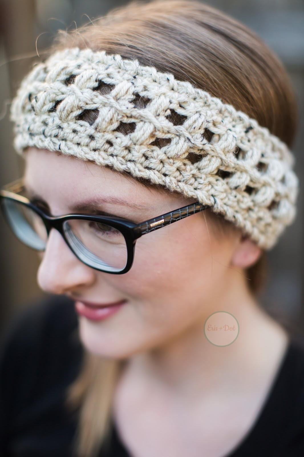 Parker Crochet Ear Warmer, Crochet Earwarmer, Crochet Headband, Winter Headband, Headwrap, Ponytail Headband, Women's, Teen, Gifts for Her