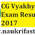 CG Vyakhyata Panchayat Result 2017 Find Here