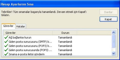 outlook sınama