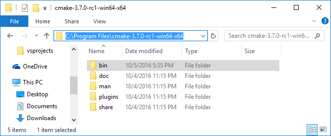 JotMyNotes: Installing CMake 3 7 0 on Windows 10