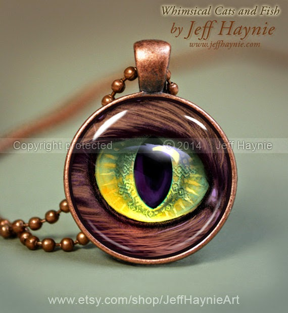 22-Cats-Eye-Necklace-Jeff-Haynie-Cats in Drawings-Paintings-and-Jewelry-www-designstack-co
