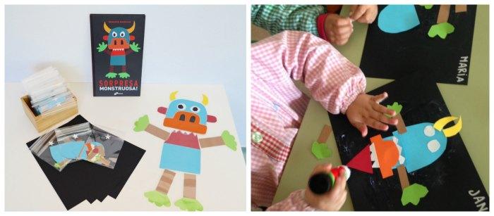 cuentos infantiles imprescindibles con actividades, juegos o manualidades collage monstruosa sorpresa