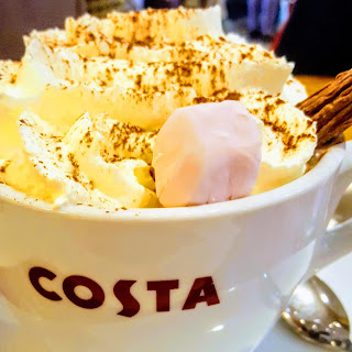 PippaD's Hot Chocolate from Costa... which didn't take long for her to finish!