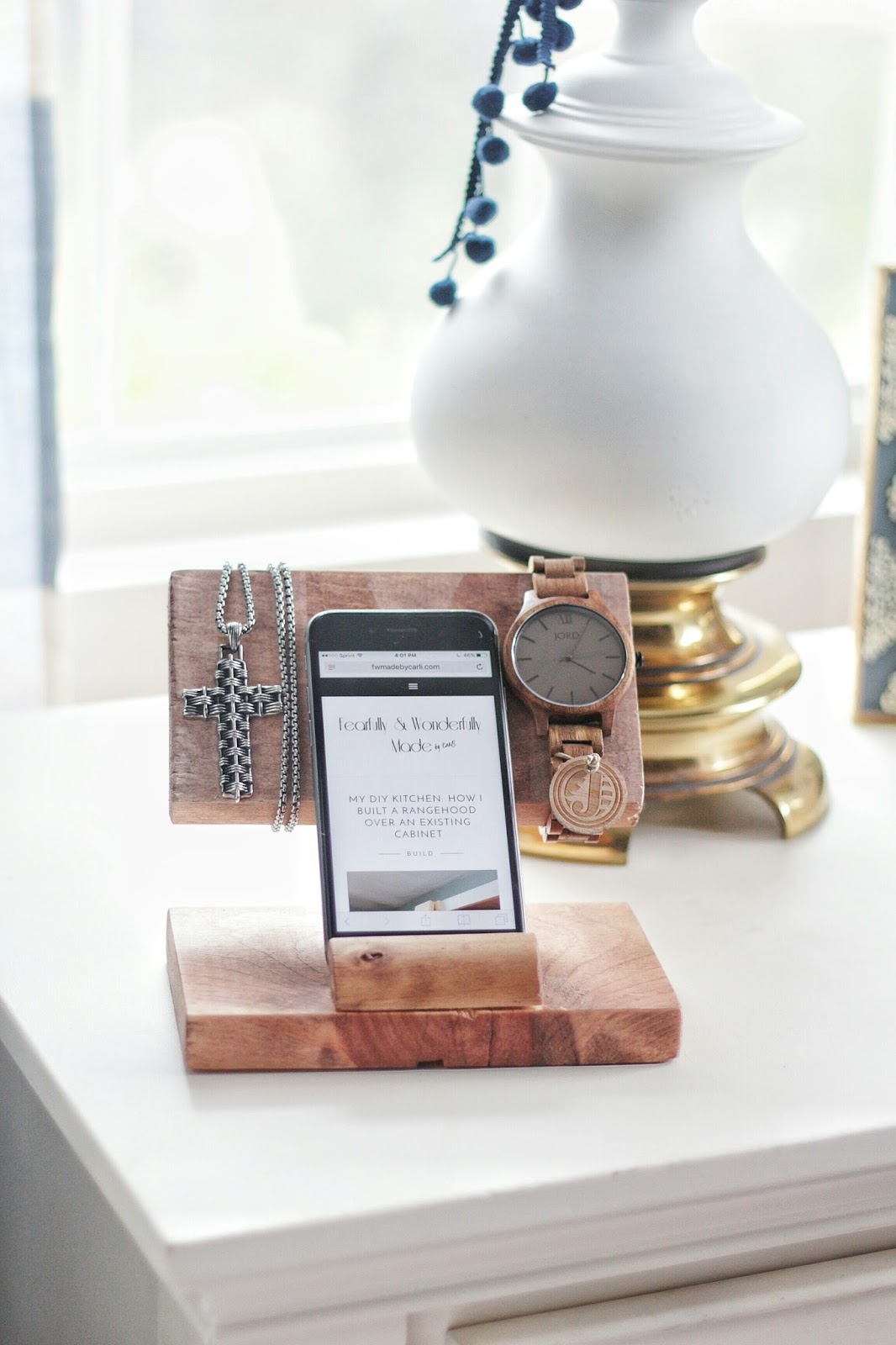 How to Make a DIY Accessory Holder and Charging Station from Scrap Wood (and JORD Giveaway)