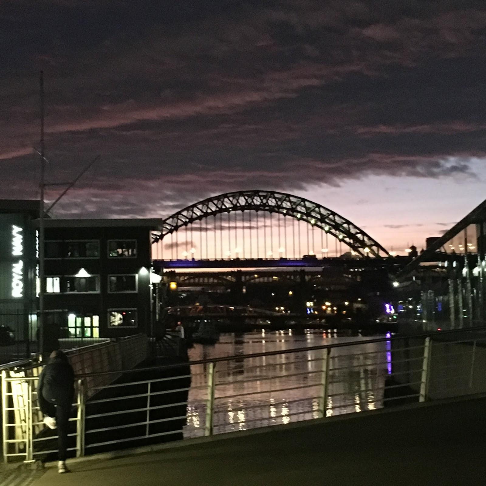 Weekend in Tynemouth, Newcastle, Tyne Bridge at Sunset