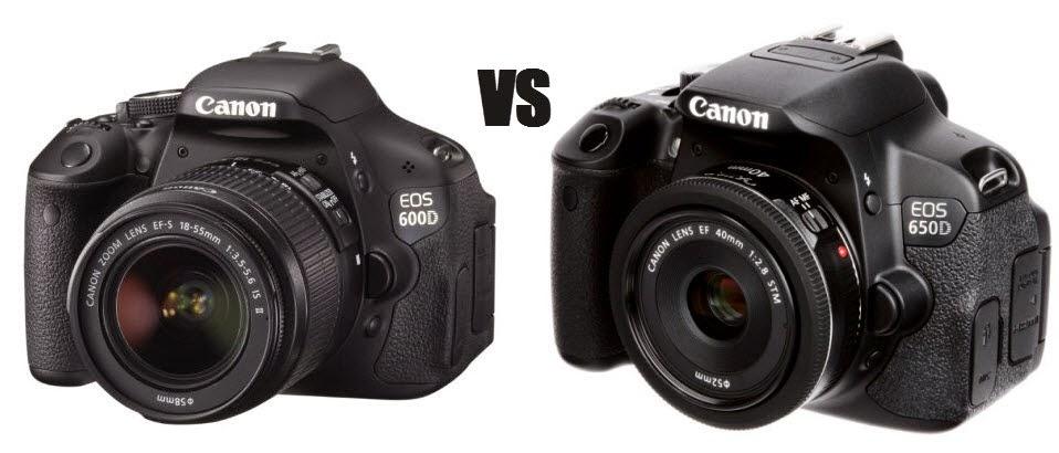 Kamera Canon EOS 650D VS 600D