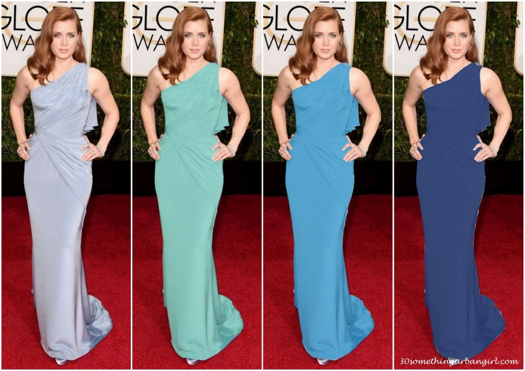 Amy Adams' Golden Globe 2015 Atelier Versace dress in different colors