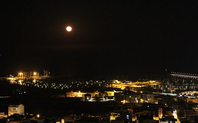 San Carlos de la Rápita . Luna llena en San Carlos de la Rápita