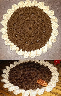 http://www.crochetmemories.com/blog/pecan-pie-coasters/