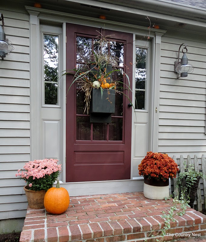 Country Front Door Decorations: The Country Nest: Fall Door Decor