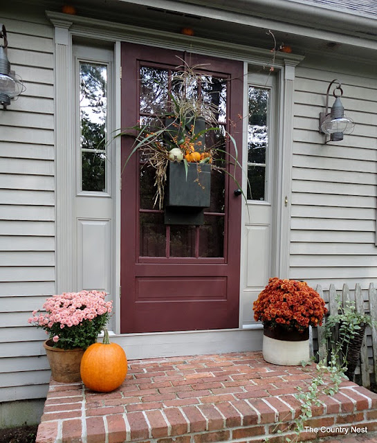 Fall Door Decor: The Country Nest: Fall Door Decor