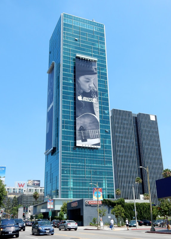 Giant Apple Music launch billboard