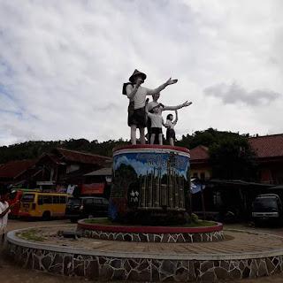 Gempa 6.4 SR Berpusat Di Lebak Banten, Sebabkan Patung Selamat Datang Ciboleger Rusak