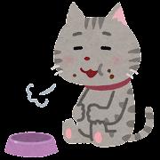 満腹な猫のイラスト