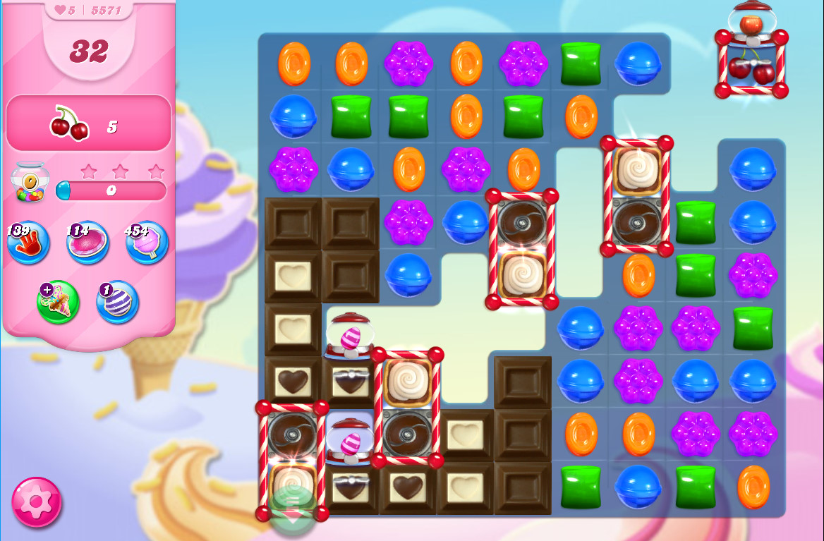 Candy Crush Saga level 5571