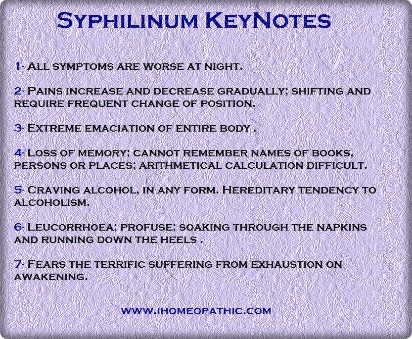 Homeopathic Remedy Syphilinum Personality | Homeopathic Treatment