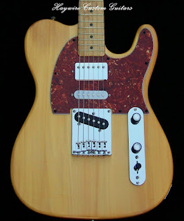 Sound? Haywire Custom Guitars Nashville with Humbucker neck, strat middle and Tele bridge pickups