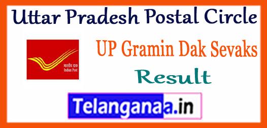 Uttar Pradesh Postal Circle Gramin Dak Sevaks Result 2017 Merit List