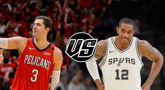 Live Streaming List: New Orleans Pelicans vs San Antonio Spurs 2018-2019 NBA Season