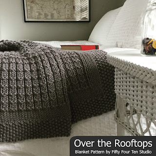 Over the Rooftops Blanket Knitting Pattern