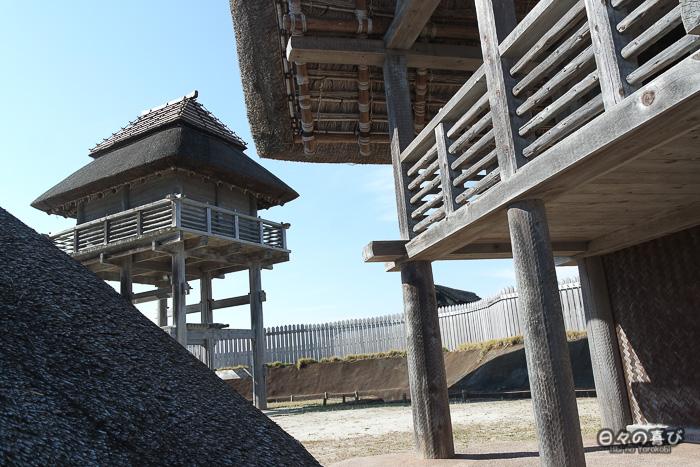 Kitanaikaku, reconstitution, parc Yoshinogari, Saga