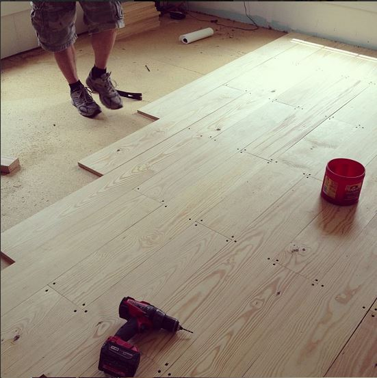 Diy wood floors after he had all the carpet up and outta here woohoo we cut 18 number 2 pine planks down to 4 ft lengths for most of the room plus some 2 ft solutioingenieria Gallery