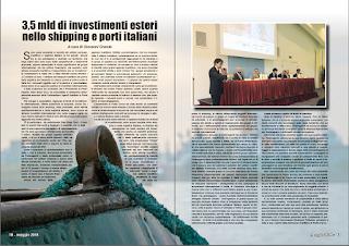 MAGGIO 2018 PAG 10 - 3,5 mld di investimenti esteri nello shipping e porti italiani