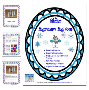 http://www.teacherspayteachers.com/Product/Winter-Addition-and-Subtraction-Sorts-469204