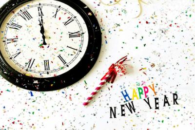 jam pasir tahun baru