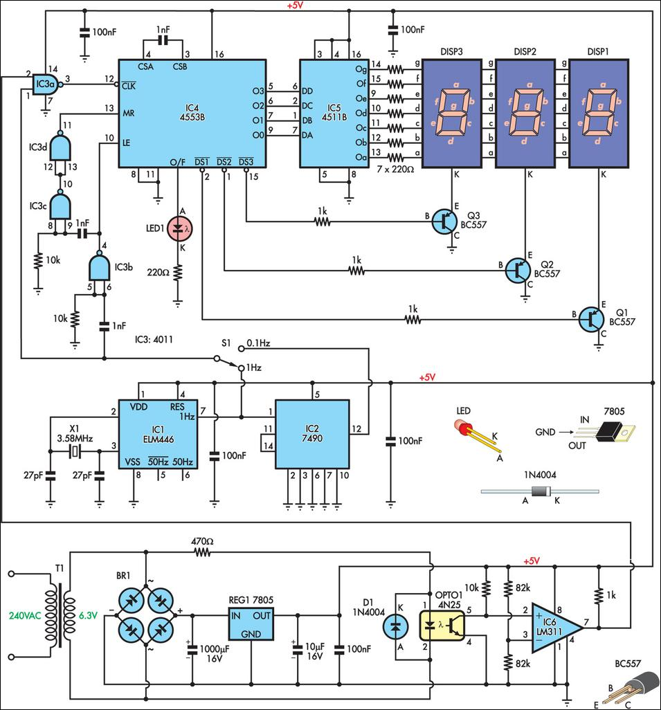 Mains Frequency Monitor Circuit Diagram  The Circuit