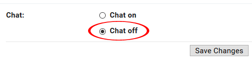 Turn Off Chat in Gmail