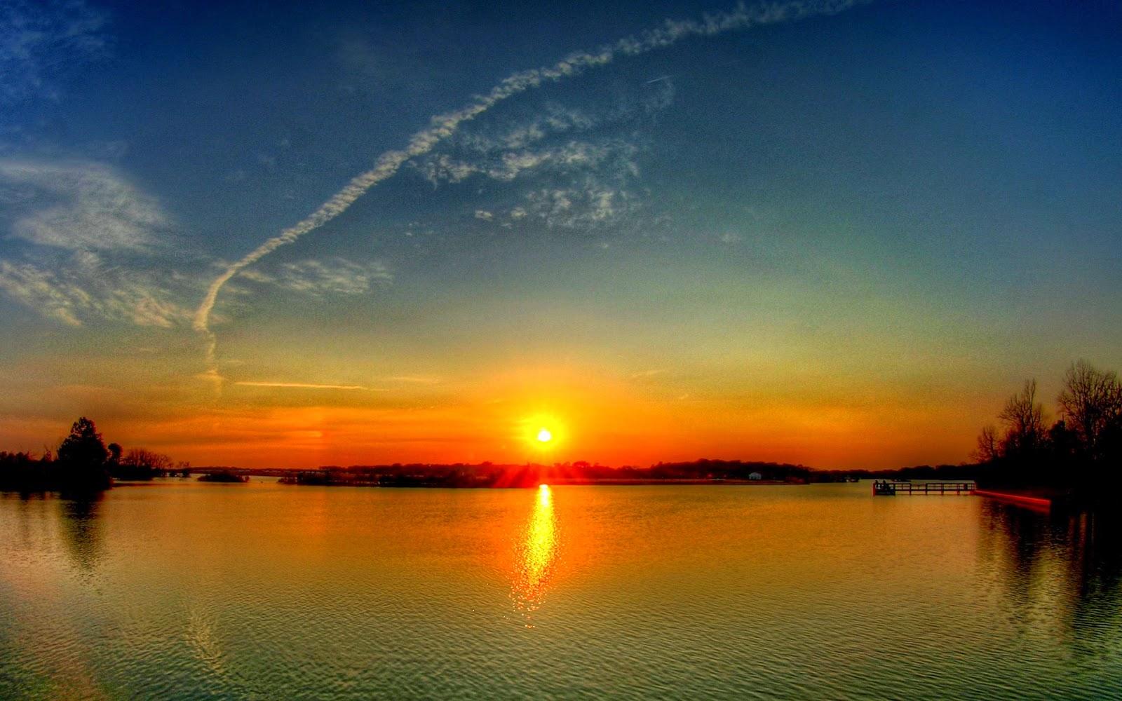 3d Fish Wallpaper Hd Pemandangan Senja Sunset Scenery Okt