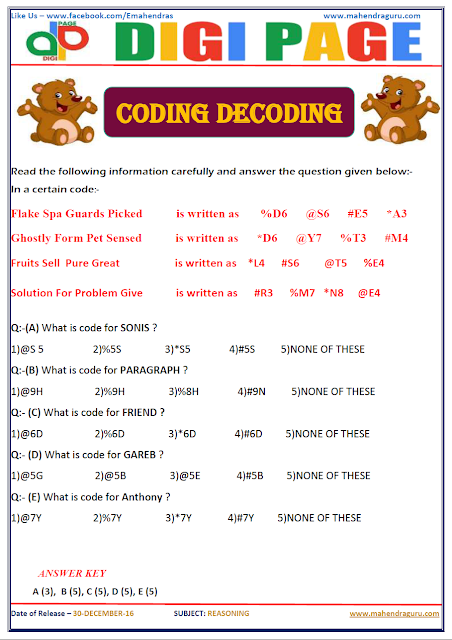 DP | CODING - DECODING | 30 - DEC - 16