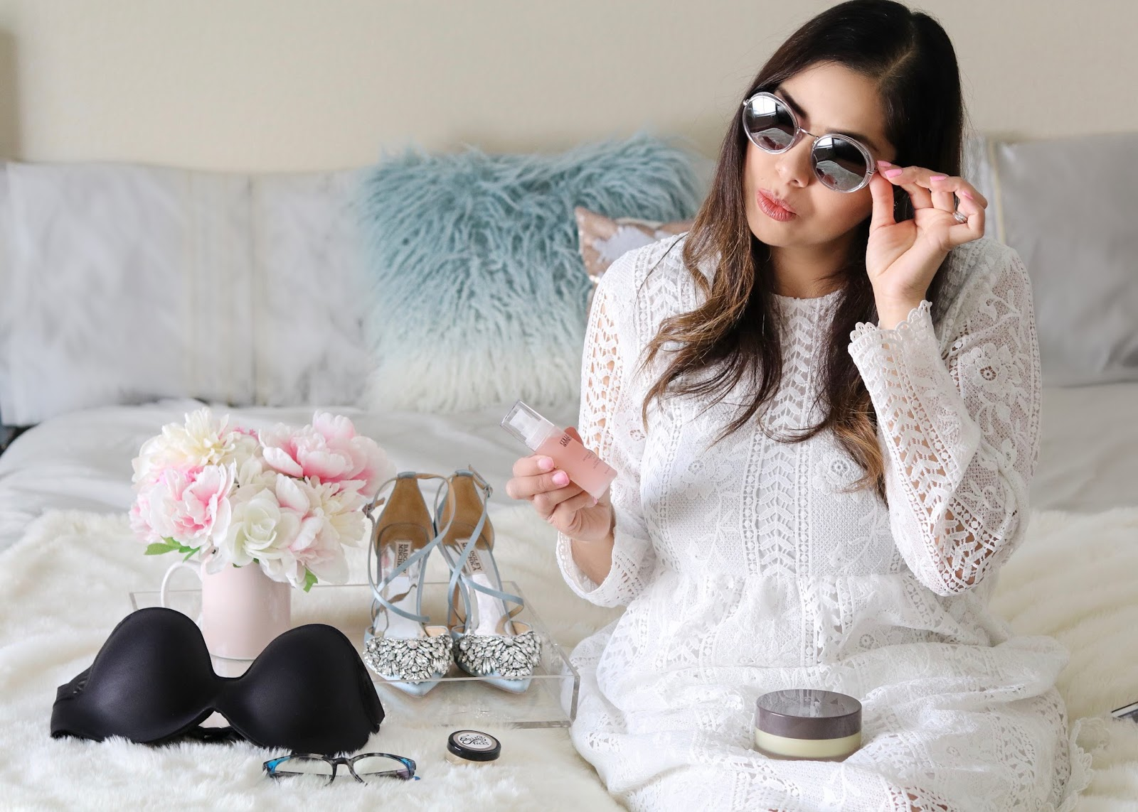Getting ready with Babbleboxx, zenni sunnies, san diego style blogger