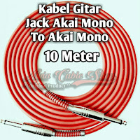 kabel gitar 10 meter jack akai mono to akai mono kabel technica javejuan