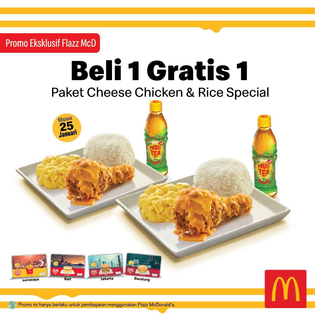 #MacDonald - #Promo Beli 1 Gratis 1 Pakai Flazz McD (25 Jan 2019)