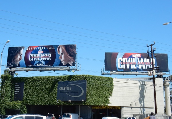 Captain America Civil War movie billboards