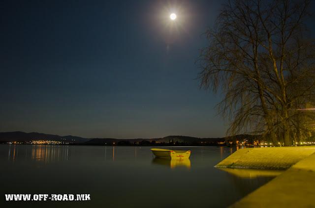 Night scene - Dojran Lake, Macedonia