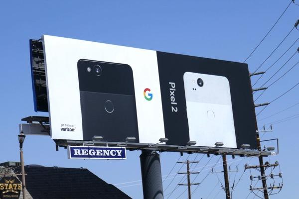 Google Pixel 2 smartphone billboard