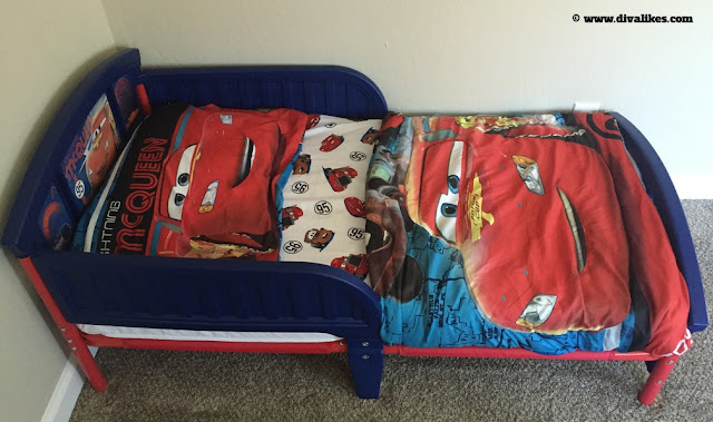 Disney Pixar Cars Plastic Toddler Bed
