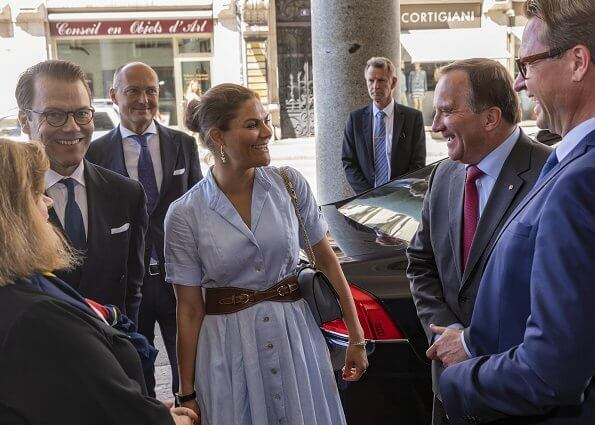 Crown Princess Victoria dressed in Camilla Thulin Design spring summer SS18 collection