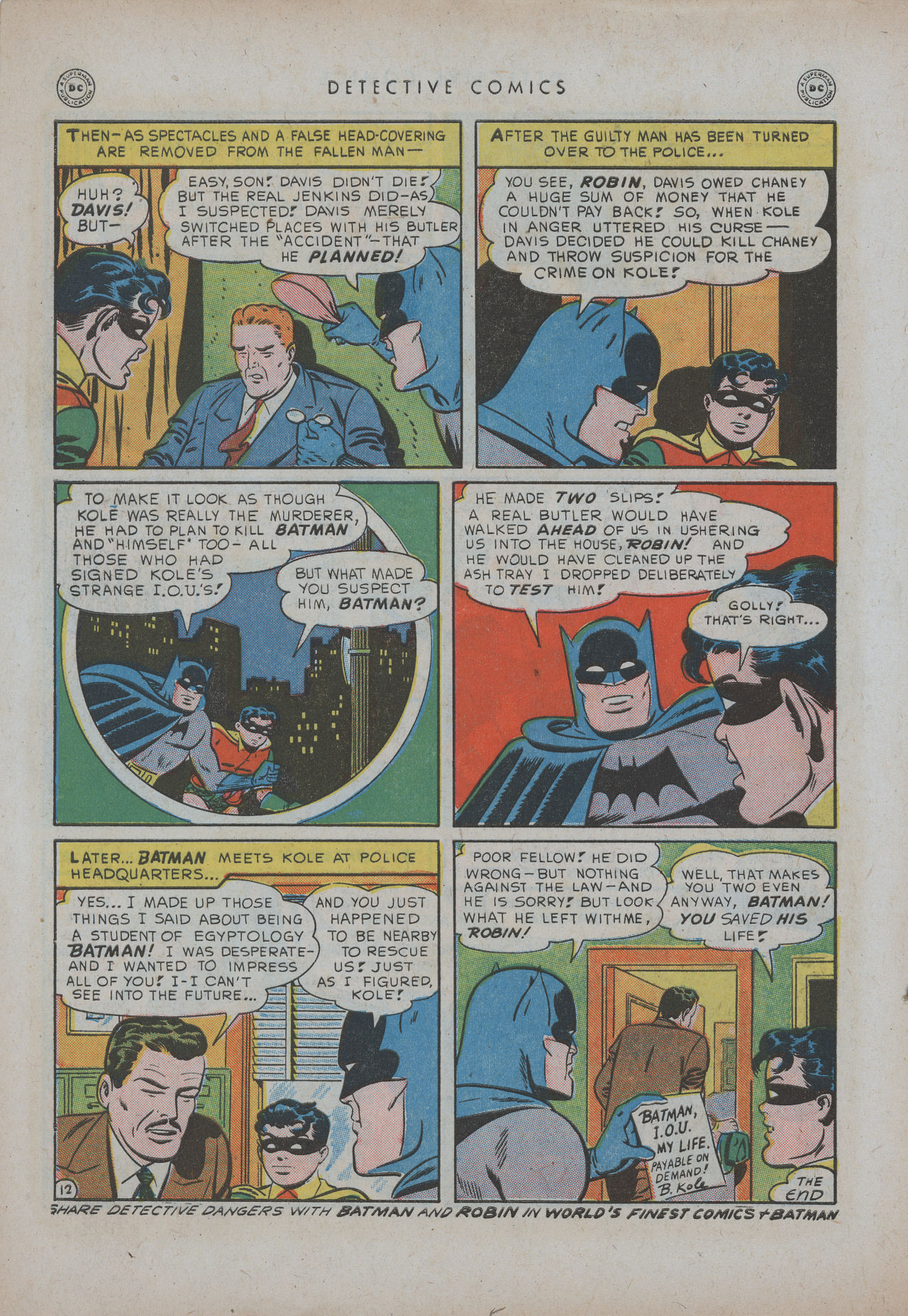 Detective Comics (1937) 151 Page 13