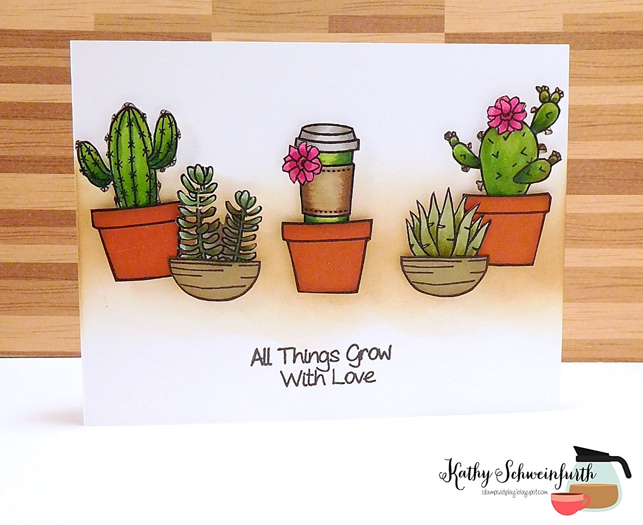 Stamps At Play Cactus Coffee Cuties