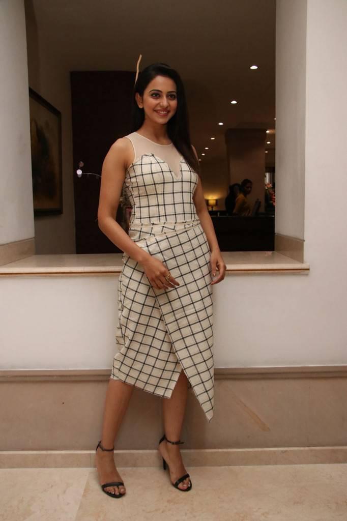Rakul Preet Singh At Spyder Movie Press Meet In Chennai Pics