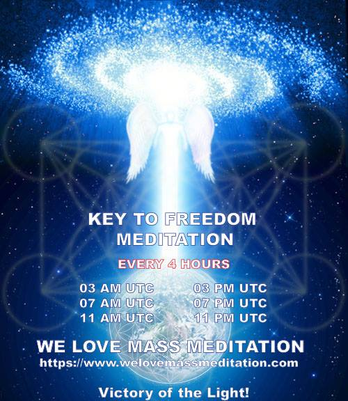 Key to Freedom meditations at 4 hours interval