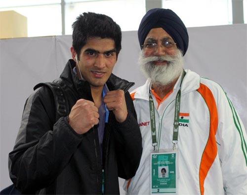 Gurbaksh Singh Sandhu, Vijender Singh's coach